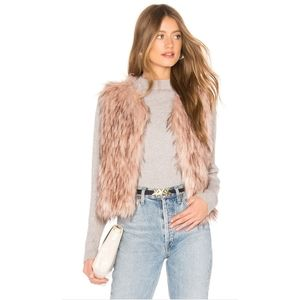 NWT BB Dakota Barbarella Faux Fur Vest S